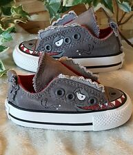��Converse All��Star Chuck Taylor Toddler Boy's Dinosaur Velcro Shoes Size 3��