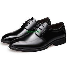 Mens pointy toe Casual dress formal business lace up wedding office shoes new