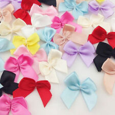 50Pcs/lot Cute Colorful Ribbon Bows Flowers Wedding Decoration Applique Ornament
