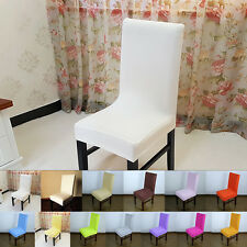 Simple Chair Cover Wedding Decor Solid Colors Dining Chair Covers Hotel Chair