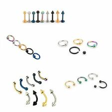 100pcs 16g HorseShoes Ring/Lip Labret Barbells/Eyebrow Piercing/CBR BCR Rings
