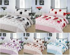 Bethany 4 Pcs Printed Duvet Cover + Valance Sheet Complete Bedding Set