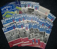 Burnley Programmes 1961/62-1969/70 - Select Your Own **FREE POSTAGE IN UK**