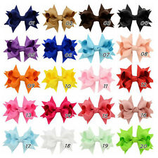 8cm Baby Kids Girls Toddler Hair Ribbon Bows Alligator Hair Clips Bow Hairpins