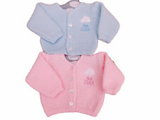 BNWT Tiny baby Premature Preemie Little star pink or blue  knitted cardigan