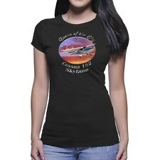 Cessna 182 Skylane Queen Of The Sky Women`s Dark T-Shirt