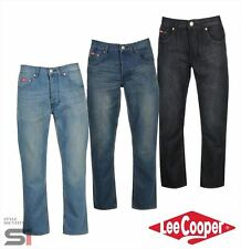 Mens Designer Lee Cooper Classic Regular Jeans Trousers Size Waist 30-40