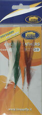 Sea Fishing Rigs Mackerel Feathers Packs of 5, 10 Lineaeffe Tackle 3/0 4 Hook