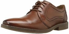 Clarks GARREN FLY Mens Brown Leather Dress Casual Derby Oxfords Shoes