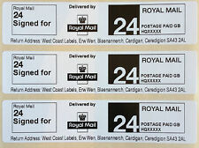 Royal Mail First Class SIGNED FOR 24 PPI Postage Labels with Return Address
