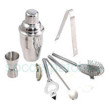 New Stainless Steel Set Cocktail Shaker Mixer Drink Bartender Martini Bar Tools