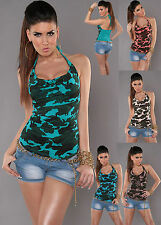 Sexy Women Clubbing New Army Top size 6 8 10 12 Ladies Party Shirt Girls Blouse