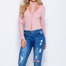 WOMANS LACE CHOKER DEEP V NECK BODYSUIT ONLY £15!!! PARTY. CHRISTMAS GIFTS