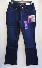 FADED GLORY WOMEN'S Dark WASH MID-RISE BOOTCUT STRETCH JEANS 4P, or 8P~NWT~