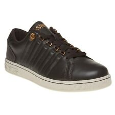 New Mens K-Swiss Brown Lozan III Leather Trainers Lace Up