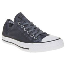 New Boys Converse Blue All Star Ox Textile Trainers Canvas Lace Up