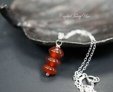 Red Carnelian Necklace Silver | Sterling Silver Red Carnelian Jewelry - Root Cha