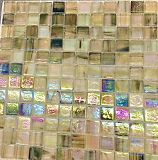 12X12 Multi-Color Agate Mosaic Glass Backsplash Tile