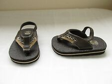New Boy's ToddlersRoute 66 Braddy Flip Flop Thong Sandals 11504 Brown/Plaid 23T