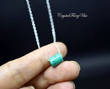 Sterling Silver Turquoise Choker - Turquoise Necklace - Turquoise Bar Pendant -