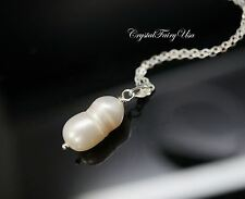 Freshwater Sterling Silver Natural Pearl Pendant Pearl Bridesmaid Gift