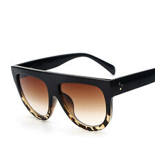 Womens Retro Oversized Designer Flat Lens Sunglasses Fashion Eye Glasses Eyewear