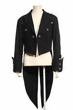 MENS STYLE JACKET BLACK STEAMPUNK TAILCOAT GOTHIC Victorian