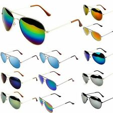 New Retro Vintage Womens Mens  Mirror Reflective Lens Unisex Sunglasses WU