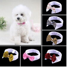 Lovely Dog Cat Puppy Teddy Adjustable Bow Tie Necktie Collar Pet Accessory OW