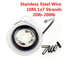 10m 1×7 Strands Nylon Covered Stainless Steel Fishing Wire Leader Line Rigs DIY