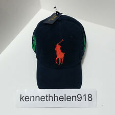 NWT POLO RALPH LAUREN BIG PONY BASEBALL CAP HAT NAVY ONE SIZE ADJUSTABLE