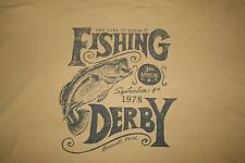 NWT Life is Good Mens T Shirt FISH Fishing Derby Bodewell Pond XL X Large