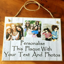 8x6'' Handmade Personalised Photo Plaque Sister Friend Gift Family Shabby Chic
