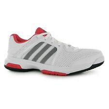 Adidas Barricade Aspire Tennis Shoes Womens White/Red Court Trainers Sneakers