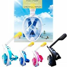 Snorkeling Mask Full Face Diving Swimming Scuba Goggles Underwater Breath Tools
