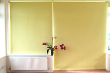 Large Blackout Roller Blind Yellow Textured wipe clean PVC on Aluminium tube