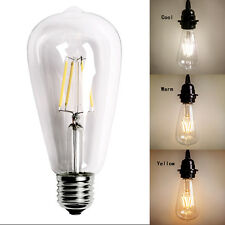 E27 LED Bulb 4/6/8W ST64 Edison Retro Lamp Filament COB light 220V 110V Dimmable