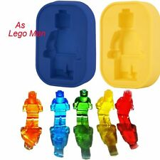 Silicone As lego Man Ice Tray Candy Jelly Chocolate Cake Cookie Mold DIY DP