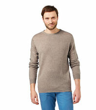 WoolOvers Mens Cashmere and Merino Crew Neck Long Sleeve Casual Sweater Jumper