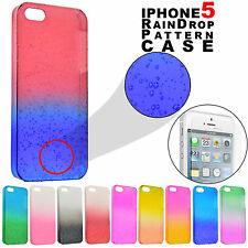Water Pattern 3D Raindrop Case / Tempered Glass Screen Protector for iPhone 5S 5
