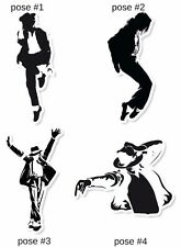 MICHAEL JACKSON STICKER, MICHAEL JACKSON DANCE POSE STICKERS, MJ SILHOUETTE