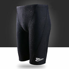 New Mens Competitive Swim Trunks Boys Swimwear Beach Swimming Shorts Black L-4XL