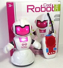 Pink Cool Robot RC Remote Controlled Rotating Robotic Space Toy  Blue RC Robot