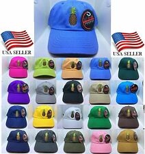 Pineapple Embroidery Dad Baseball Hat Cap Polo Style Unconstructed