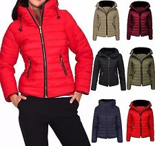 Women Fur Collar Quilted Padded Puffer Bubble Warm Thick Jacket Coat