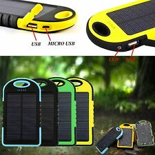 PORTABLE 5000MAH WATERPROOF SOLAR CHARGER POWER BANK FOR SONY XPERIA M5 DUAL