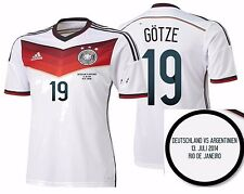 ADIDAS M. GOTZE GERMANY AUTHENTIC FINAL GAME JERSEY FIFA WORLD CUP BRAZIL 2014