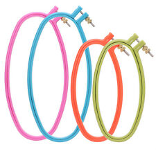 1PCS Embroidery Cross Stitch Oval Hoop Ring Sewing Fabric Craft Plastic