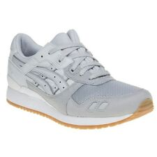 New Mens Asics Grey Gel-Lyte III Nylon Trainers Retro Lace Up