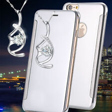 Luxury New Flip Mirror Metal Glossy View Case Cover For iphone